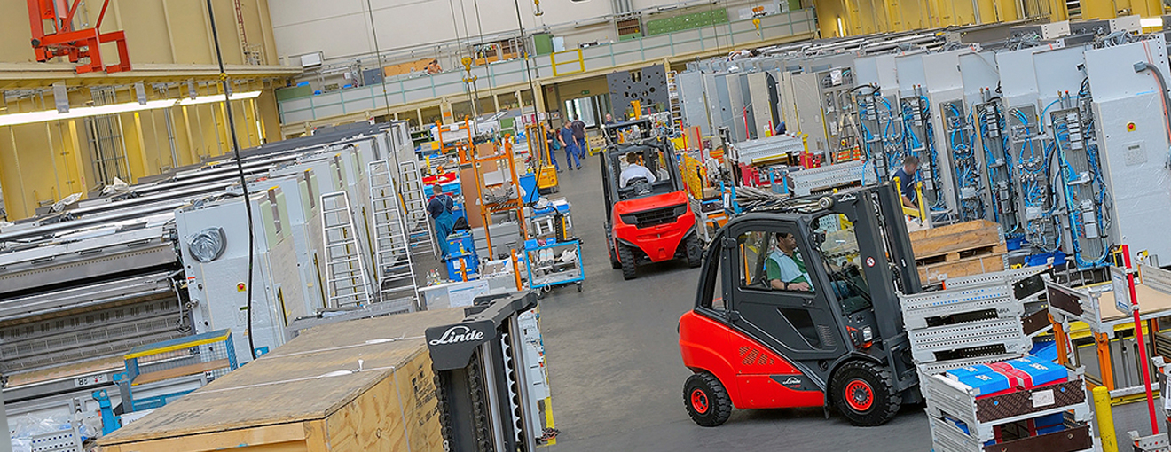 LInde Forklifts for factory