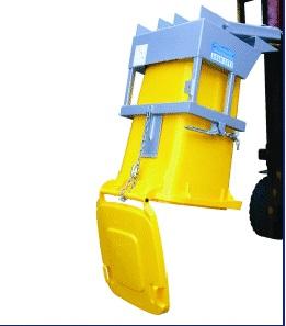 wheelie bin tipper forklift attachment