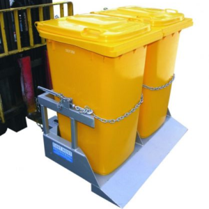 bin tipper foklift attachment